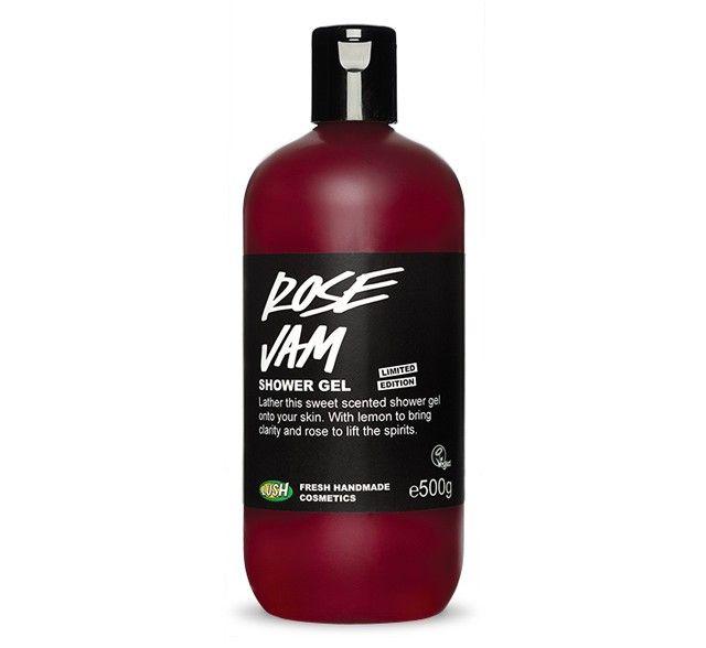 """Rose Jam"" shower gel... My favorite Lush body wash ❤️"