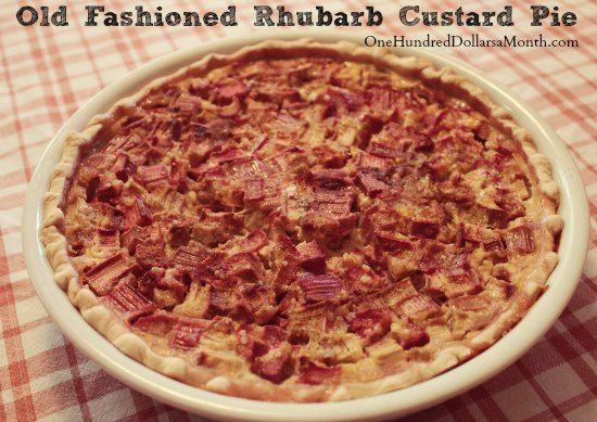 Old Fashioned Rhubarb Custard Pie #Rhubarb #Dessert #Pie