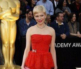 SWEETCarpets Michelle, Oscars Red Carpets, Awards 2012, Oscars Time, Oscars 2012, 2012 Red, Michelle Williams, Oscars Dresses, Carpets Hairstyles