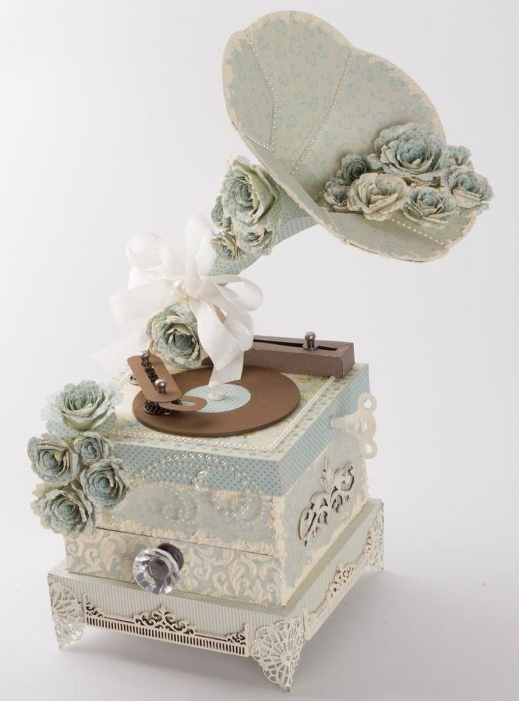 I loved making this project.  It's a phonograph/gramophone, but it is also functional in that it has a pull-out drawer for jewelry or keepsakes.  I would be grateful if you could check out this pos...: