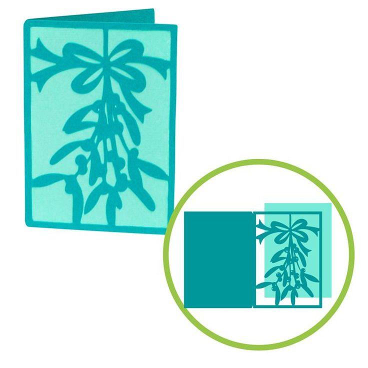 Mistletoe Card Christmas Cricut DIY Holidays