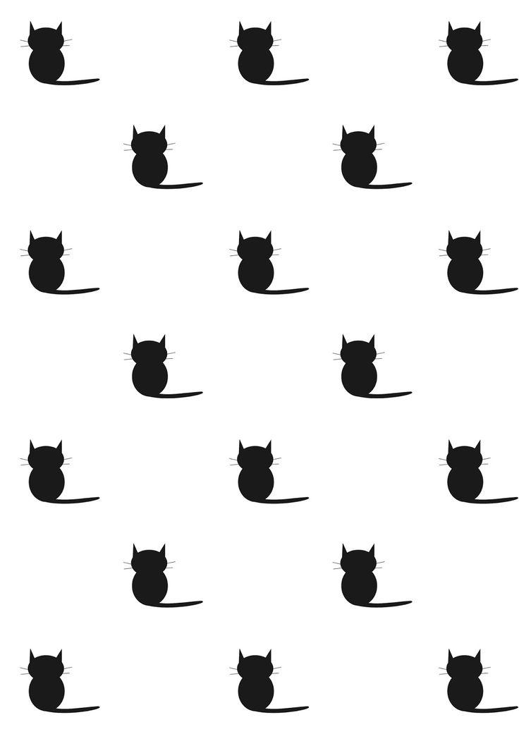FREE printable #cat pattern paper   #blackandwhite