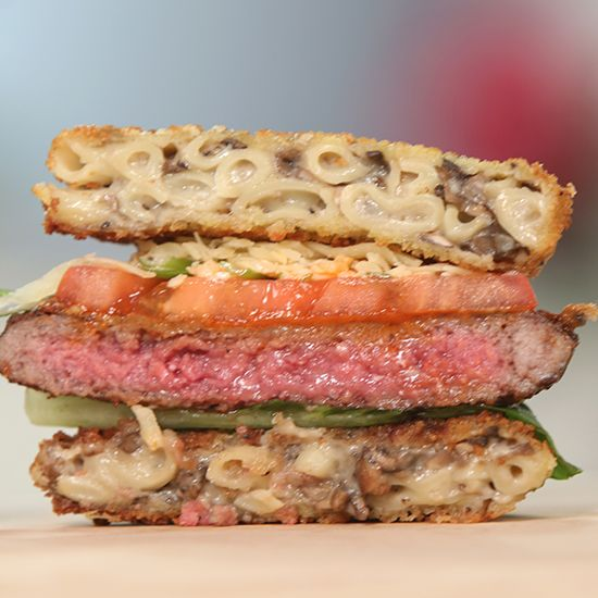 Men and women alike agree that this Truffle Mac 'n' Cheese Burger is better than a Ramen Burger . . .