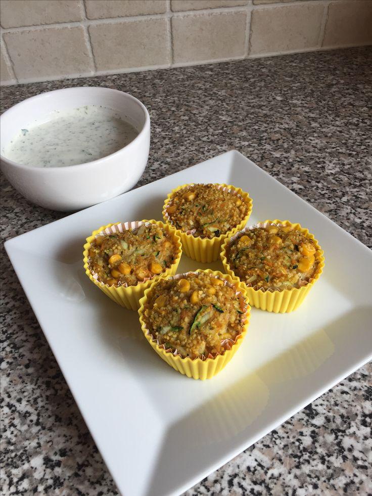 Eigene Version couscous-Gemüse cupcake