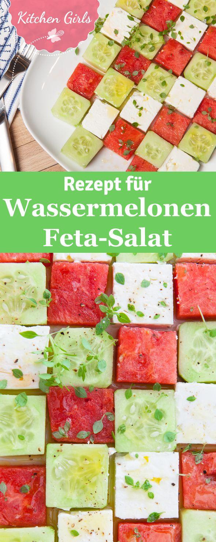 Rezept für Wassermelonen-Feta-Salat