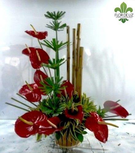 Anturios y bamb jard n pinterest arreglos florales for Jardines de anturios