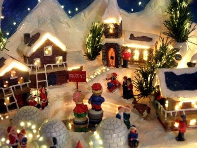 How To Paint Christmas Village Ceramic Figures Christmas