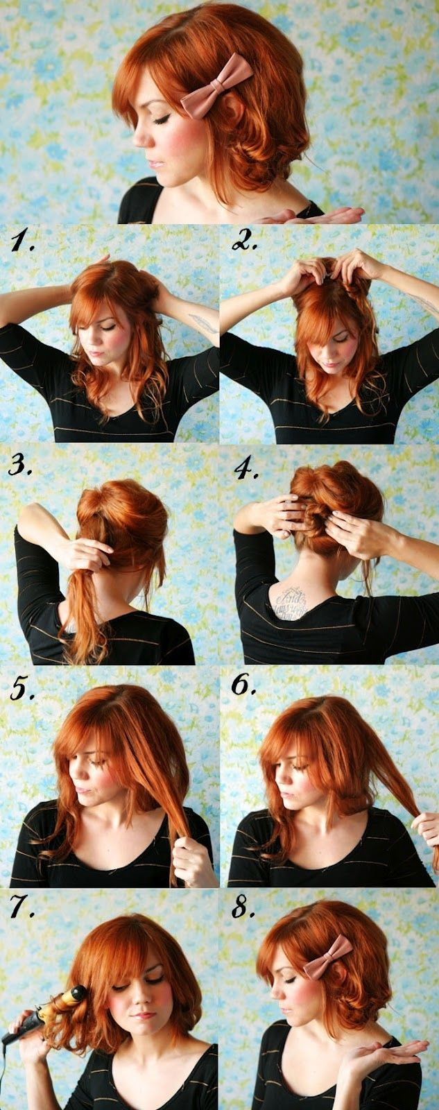 DIY Short Hair No Cutting Hairstyle. My hair may be too thick for this, but it's still awesome!