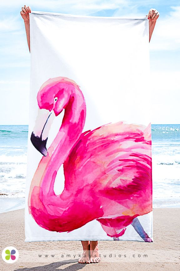 Freddie The Flamingo Towel In 2020 Flamingo Beach Towel Beach