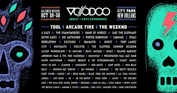 Voodoo Music + Arts Experience happens Oct. 28-30, 2016 at City Park in New…