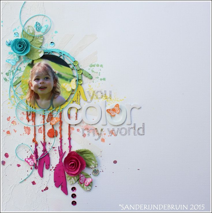 Live. Laugh. Love.: New layout 'You color my world' for Scrap around the World challenge July