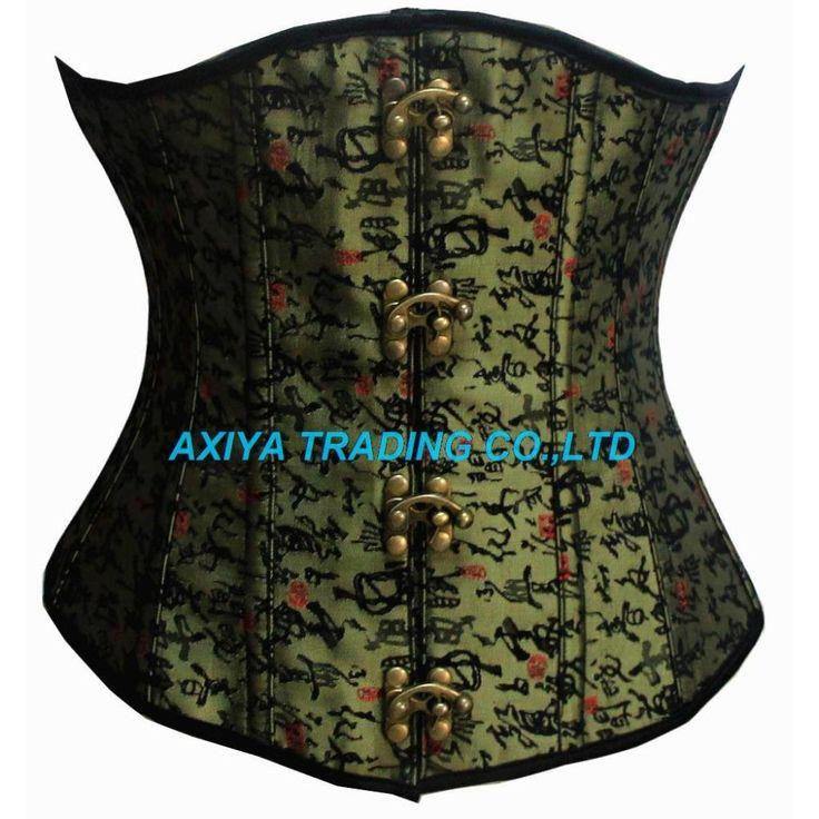 Sexy women waist training corset Steampunk Steel Boned Underbust Corsets Body Shapewear Bustier cincher bustier corselet