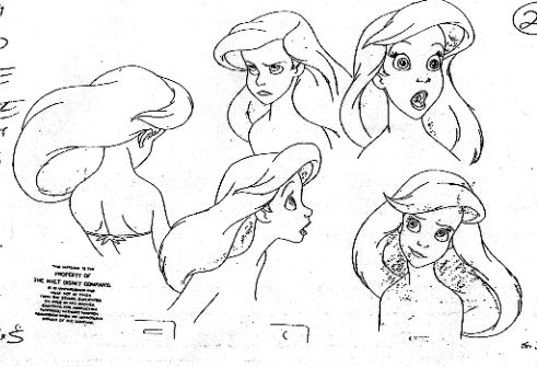 Amazing model sheets for Ariel!  http://animationarchive.net/Feature%20Films/The%20Little%20Mermaid/Model%20Sheets/ariel02.gif