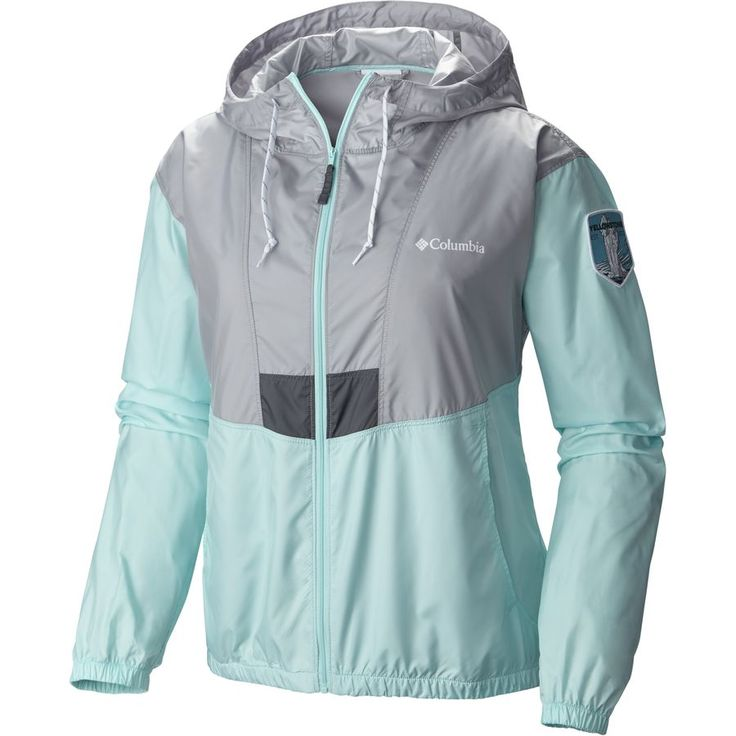 Columbia - Flashback Park Edition Windbreaker - Women's - Columbia Grey/Ocean…