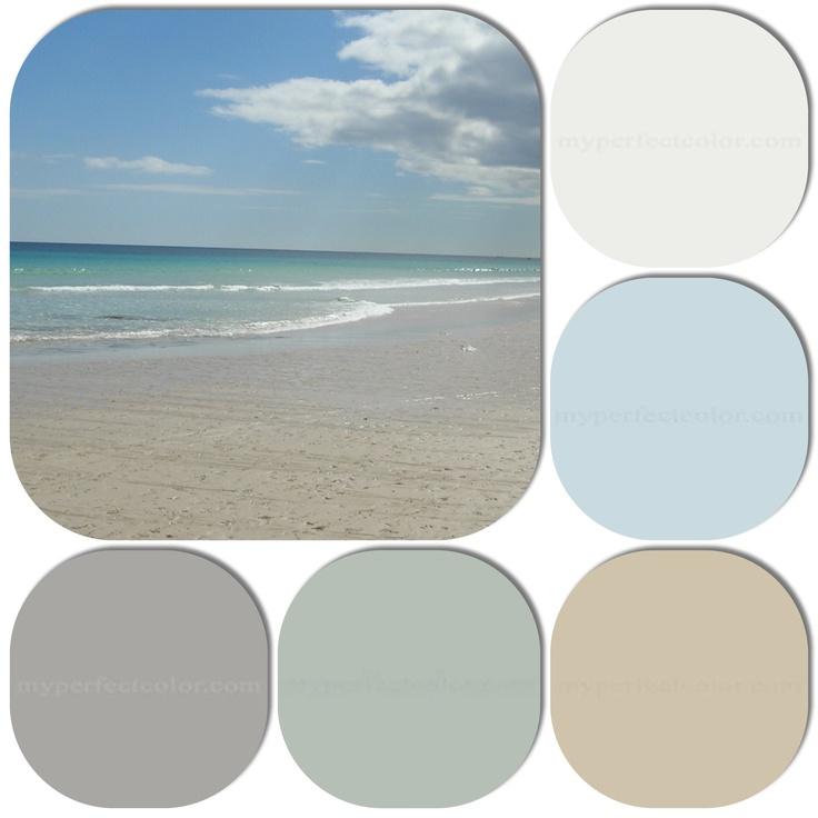 Colour palette. Beach house.