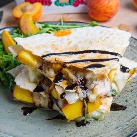 Peach chicken, Quesadillas and Peaches on Pinterest