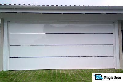 Nossa Casa no Site - Construção da fundação ao acabamento: Portão basculante da Garagem - comprado