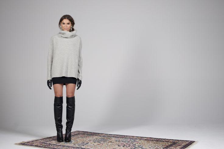 Saina Sweater in Greymelange http://twisttango.com/sania-sweater-greymelange