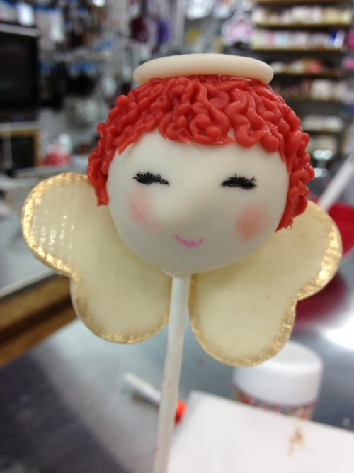 chocolate angel cake pop!