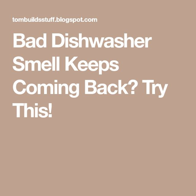 Bad Dishwasher Smell Keeps Coming Back? Try This!