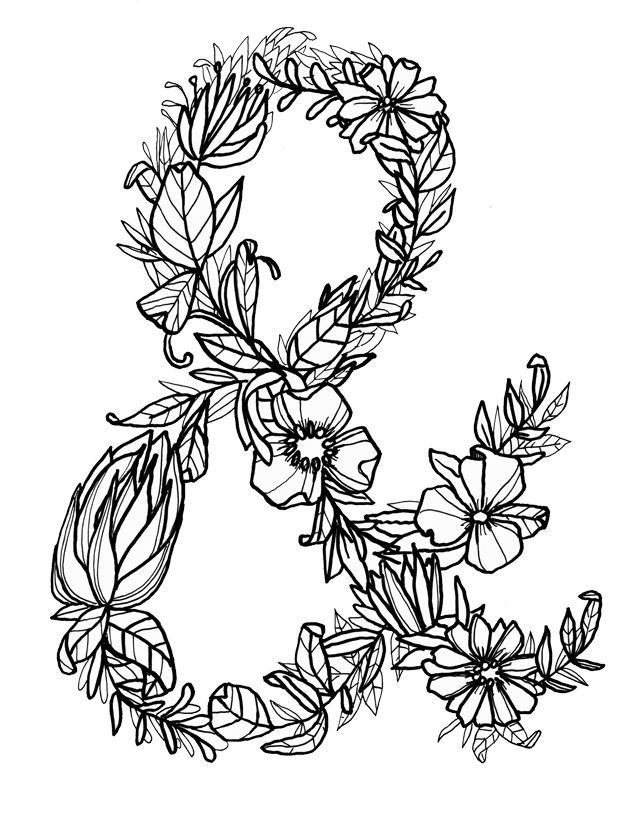 Lettering With Makewells The Art Of The Ampersand Alisaburke Coloring Pages Ampersand Tattoo Colouring Pages