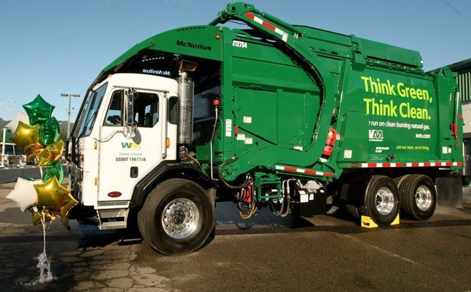 Waste Management Company Rolls Out New Garbage Trucks That Run Off Natural Compressed Gas: The Engine Runs Cleaner Quieter And Consumes Less Fuel Than Diesel.