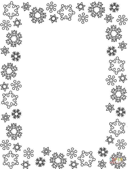 christmas picture frames coloring pages - photo#16