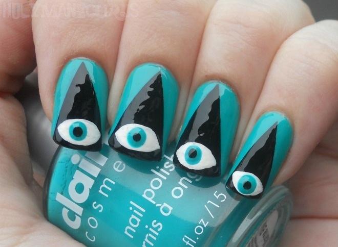 Weird eye manicure.