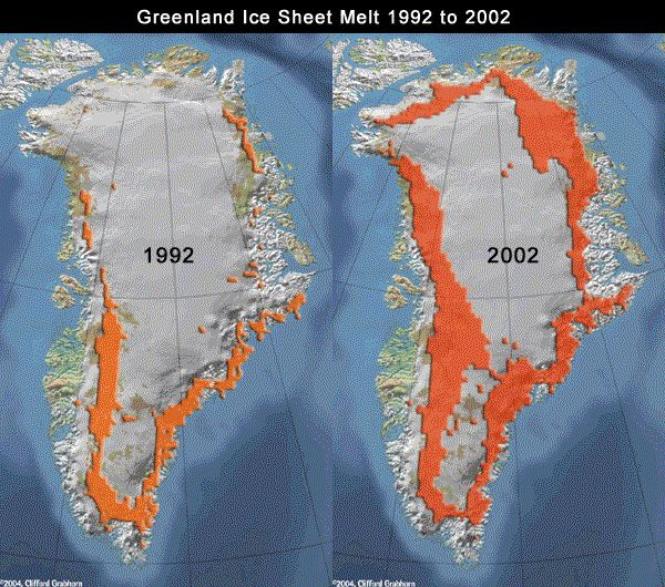 Greenland Ice Sheet Global Warming - Map of us after ice caps melt