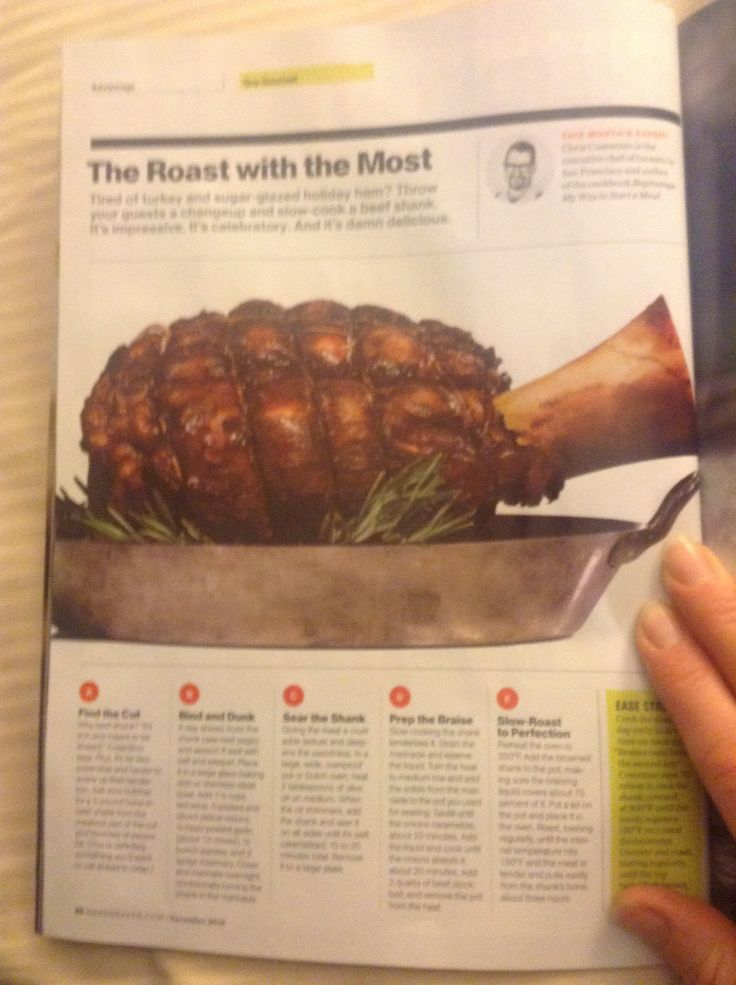 Beef Shank recipe from Men's Health magazine