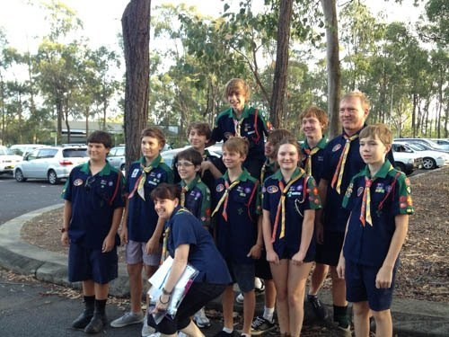 Manly Lota Scouts - Troop 36 prior to setting off