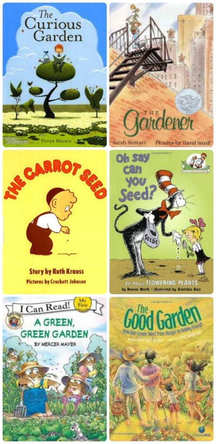 Garden Books with 50+ fun garden ideas & activities for kids -- great outdoor activities for kids