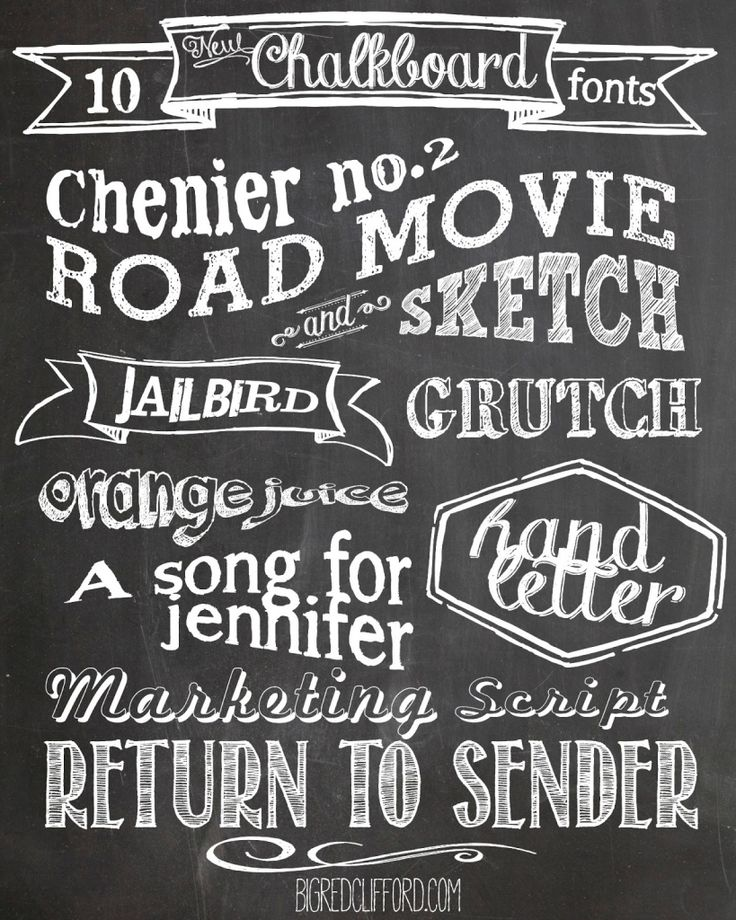 ten free download Chalkboard fonts to use for DIY crafts and prints. a free background included too!