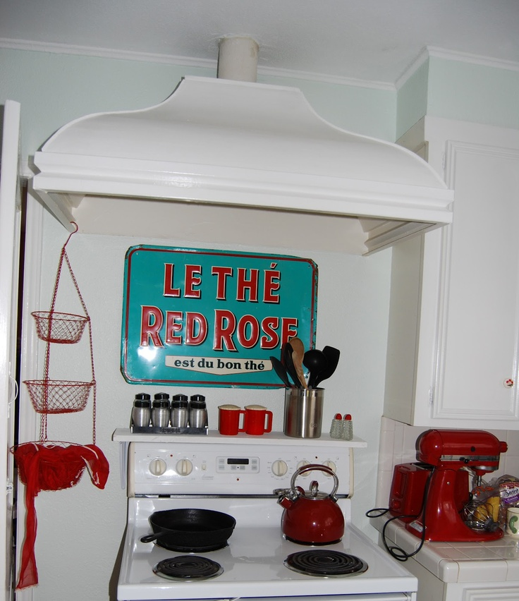 Red Turquoise Kitchen