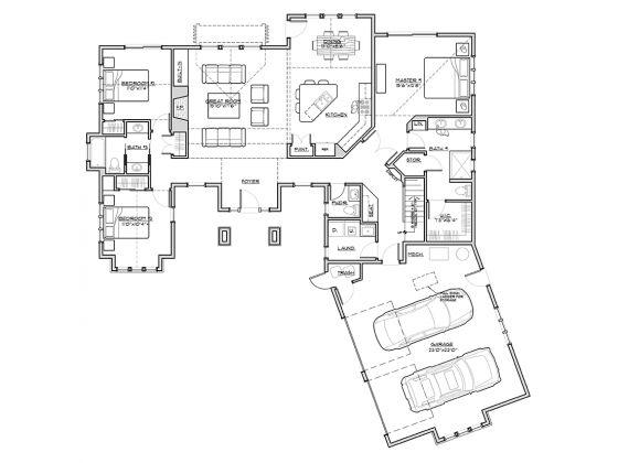 Great craftsman floor plan