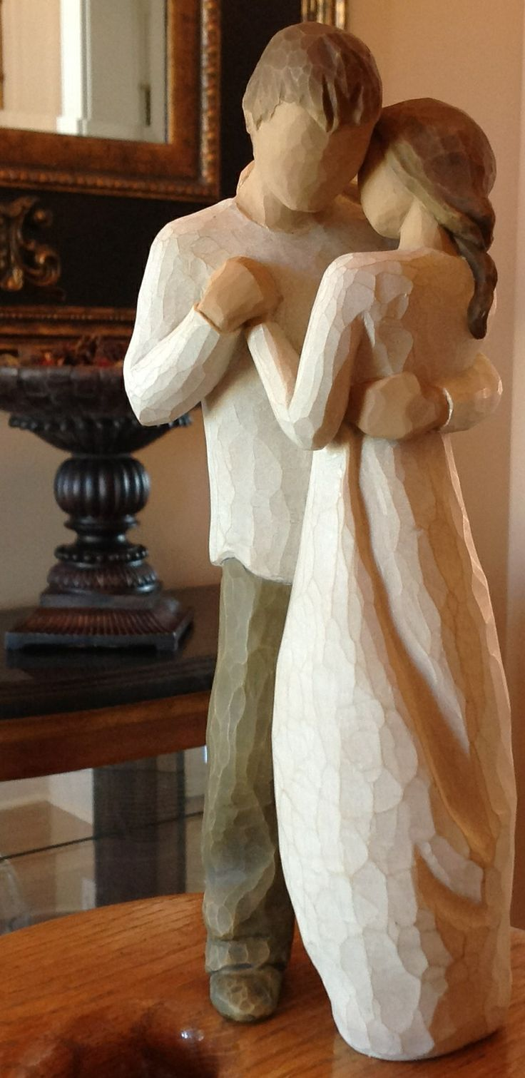 Willow Tree Figurine- Promise.....Hold dear the promise of love. More than ever for Richard and I.