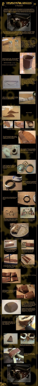 DIY steampunk goggles