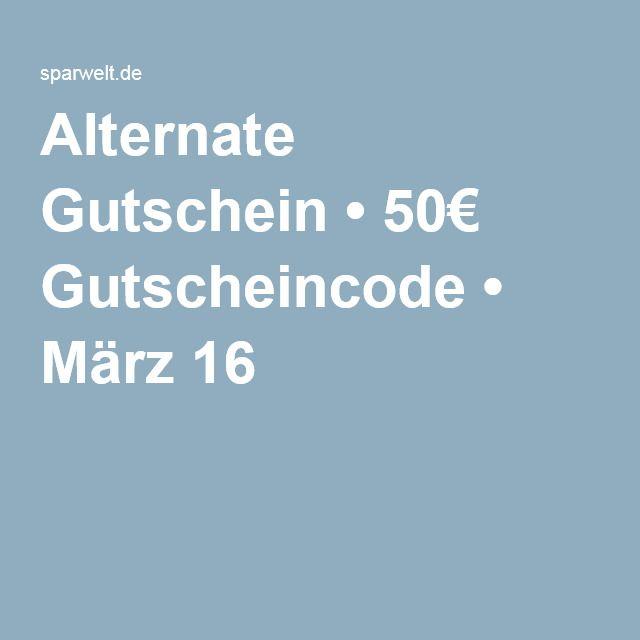 Alternate Gutschein • 50€ Gutscheincode • März 16