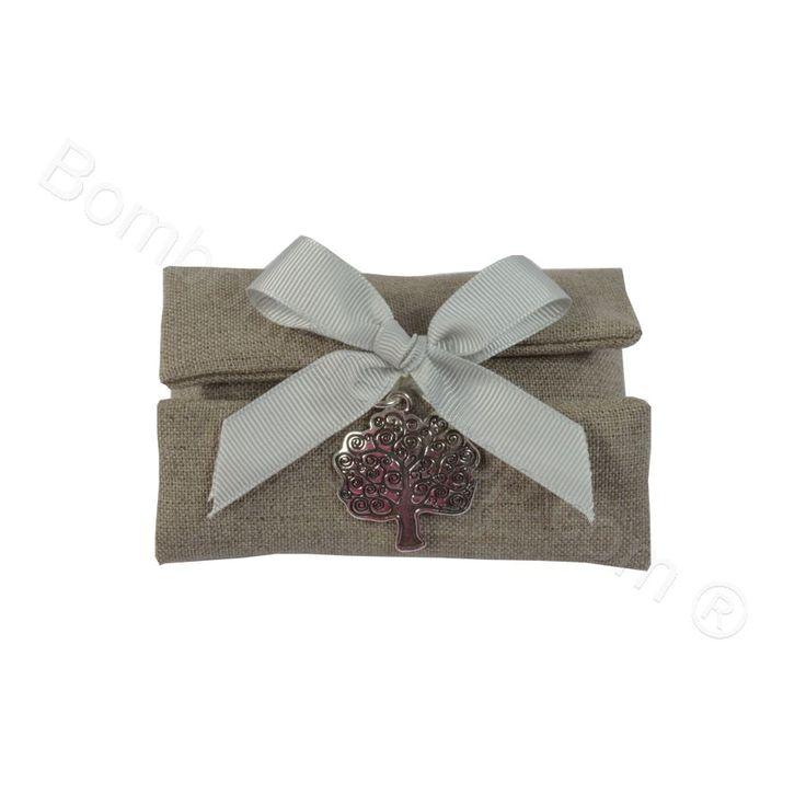 Sacchettino Provence Natural confezionato con ciondolo Albero della Vita