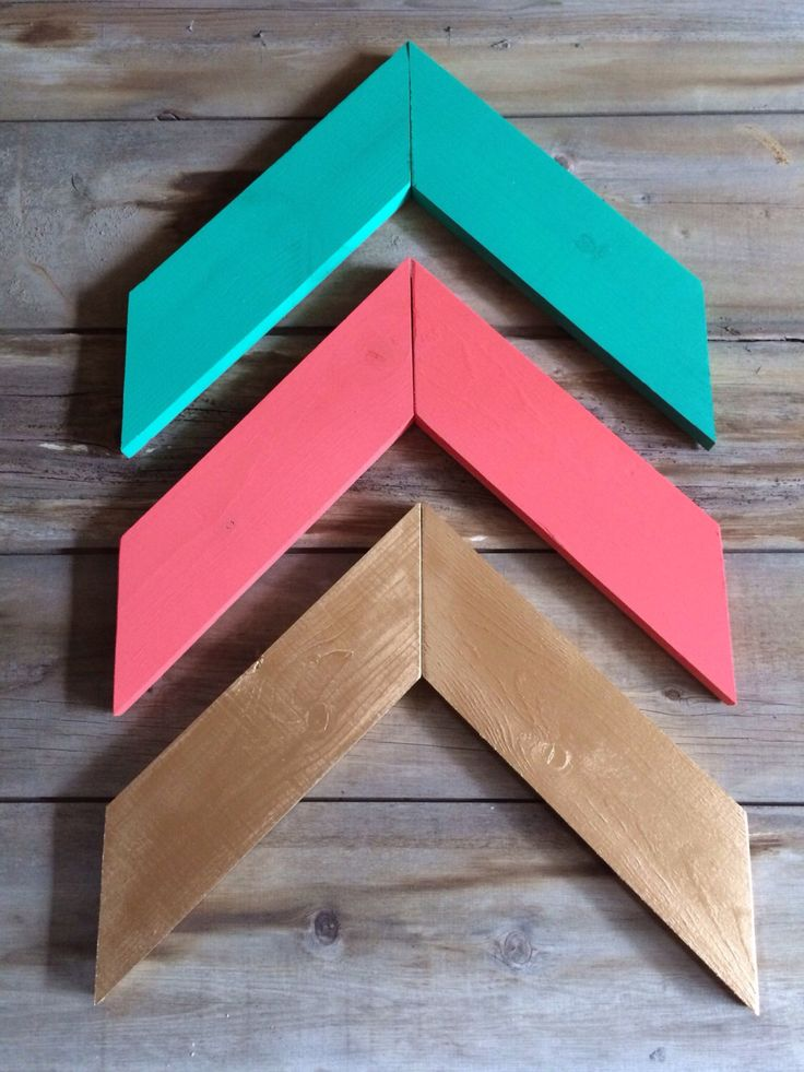 WOOD ARROWS - Chevron Wall Arrows - Set of 3 - Mix and Match Coral Arrows, Mint Arrows, Gold Arrows, Pink and Gold, Navy, Lilac, Gray, White by meierdesignhouse on Etsy https://www.etsy.com/listing/241440356/wood-arrows-chevron-wall-arrows-set-of-3