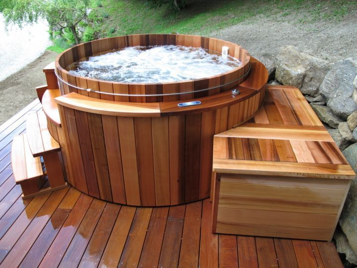 17 best ideas about jacuzzi bois on pinterest piscine. Black Bedroom Furniture Sets. Home Design Ideas