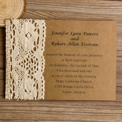 vintage lace wedding invitations| vintage wedding ideas