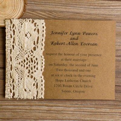 vintage lace wedding invitations| vintage wedding ideas