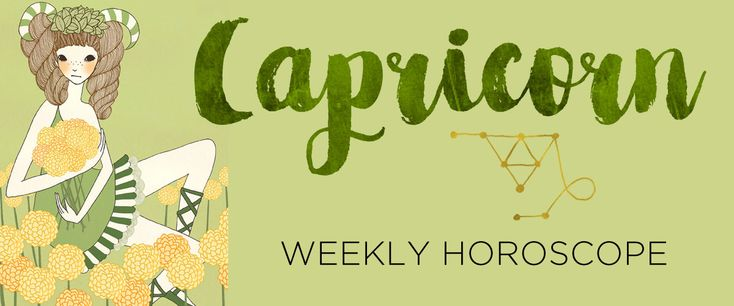 Your Capricorn weekly horoscope and sun sign astrology forecast by The AstroTwins, Ophira and Tali Edut