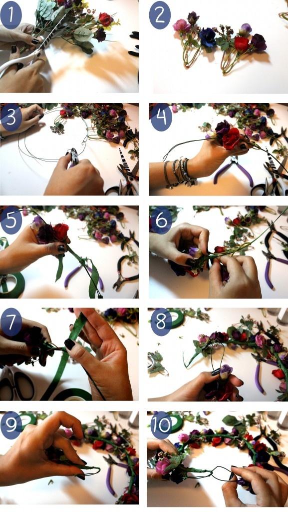 DIY: Coroa de Flores - Como fazer? - Shoot Me Mary