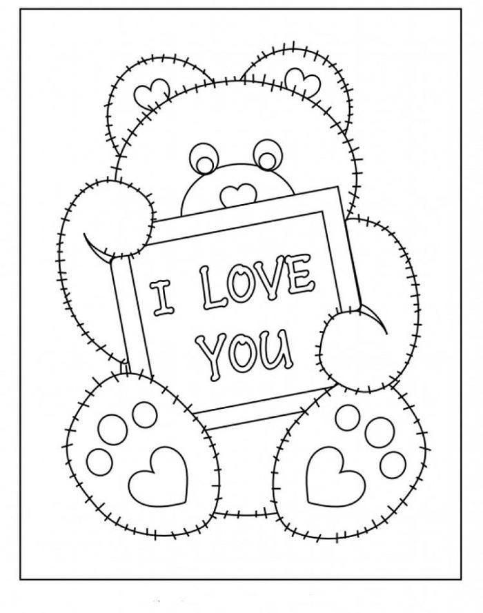 Free Printable I Love You Coloring Pages Valentine Coloring