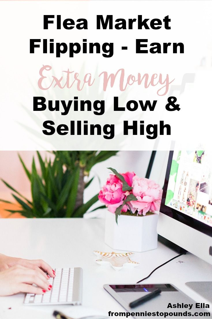 Flea market flipping - earn extra cash from buying items at low prices and selling on for a good profit. Read my interview with Melissa who does it as a full time job: http://www.frompenniestopounds.com/flea-market-flipping-earn-extra-money-buying-low-selling-high/