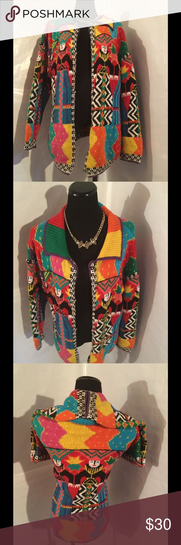 Aztec Tribal Sweater Cardigan Sweater  Long sleeve EUC Sweaters Cardigans