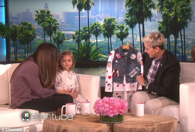 Swag: The host had surprised her with an 'I love Adam Levine' outfit, but revealed she had...
