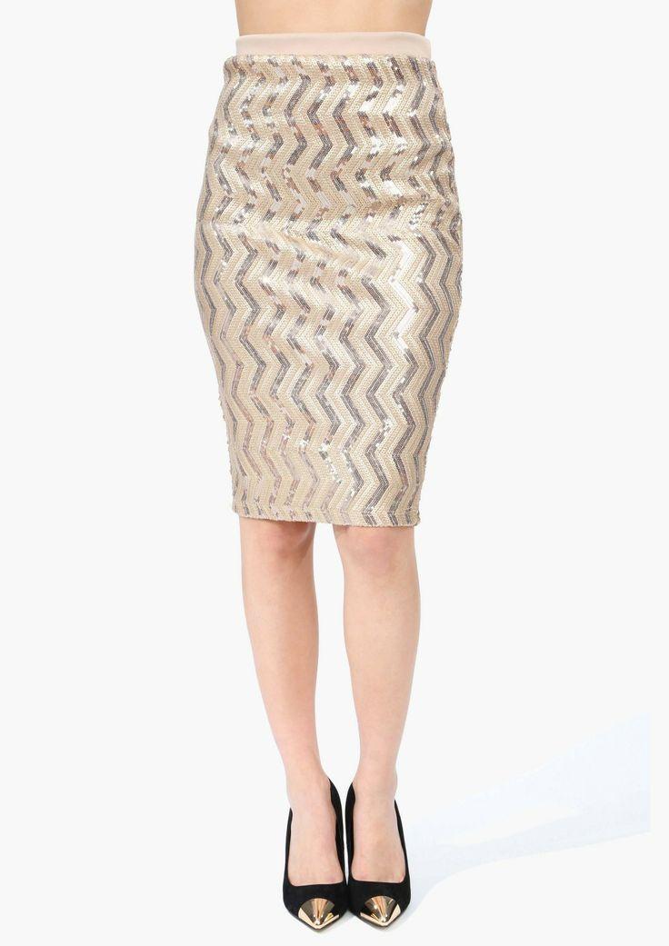 Gold chevron skirt
